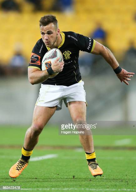 Wes Goosen of Wellington in action during the Mitre 10 Cup Semi Final match between Wellington and Northland at Westpac Stadium on October 20 2017 in...