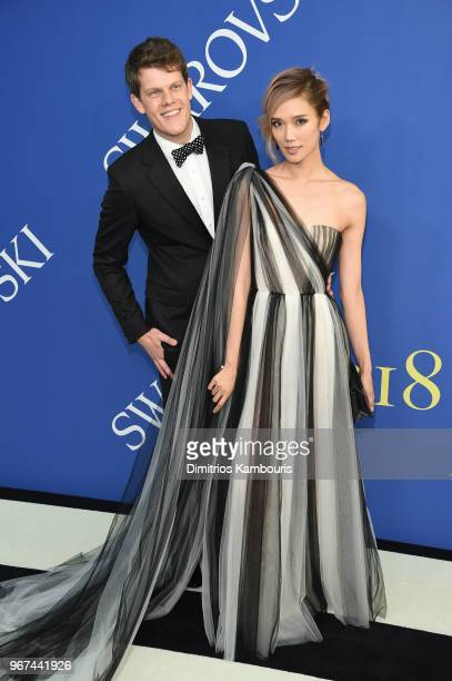 Wes Gordon and Tao Okamoto attend the 2018 CFDA Fashion Awards at Brooklyn Museum on June 4, 2018 in New York City.