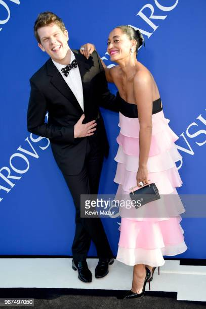 Wes Gordon and Tracee Ellis Ross attend the 2018 CFDA Fashion Awards at Brooklyn Museum on June 4, 2018 in New York City.