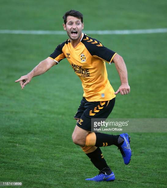 Wes Hoolahan of Cambridge United during the PreSeason Friendly match between Cambridge United and Leicester City at Abbey Stadium on July 23 2019 in...