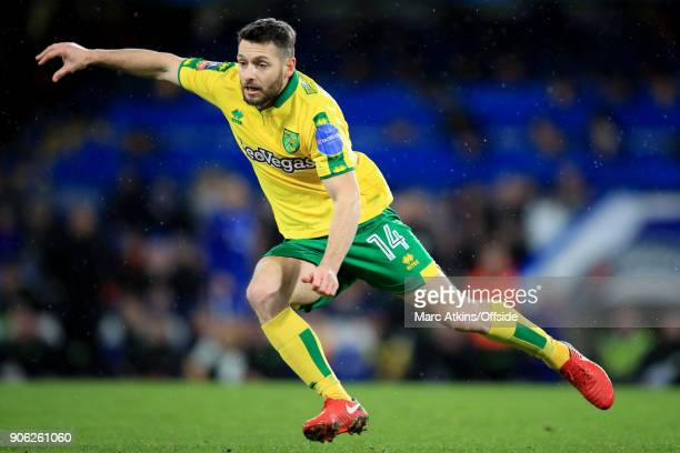 Wes Hoolahan of Norwich City during the Emirates FA Cup Third Round Replay match between Chelsea and Norwich City at Stamford Bridge on January 17...