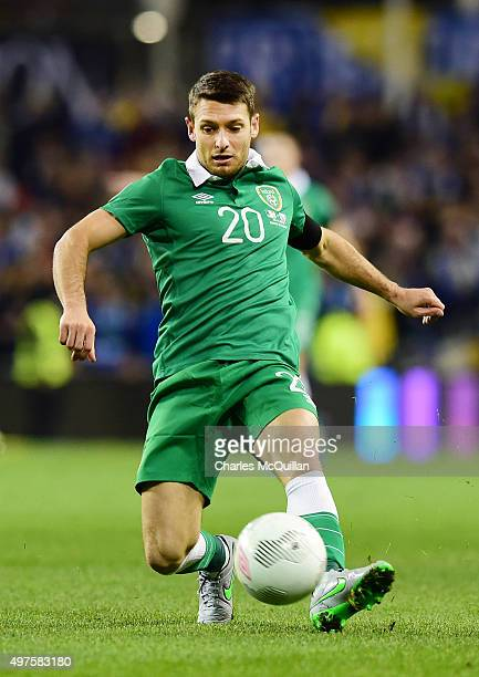 Wes Hoolahan of the Republic of Ireland during the Euro 2016 playoff second leg match between the Republic of Ireland and BosniaHerzegovina at Aviva...