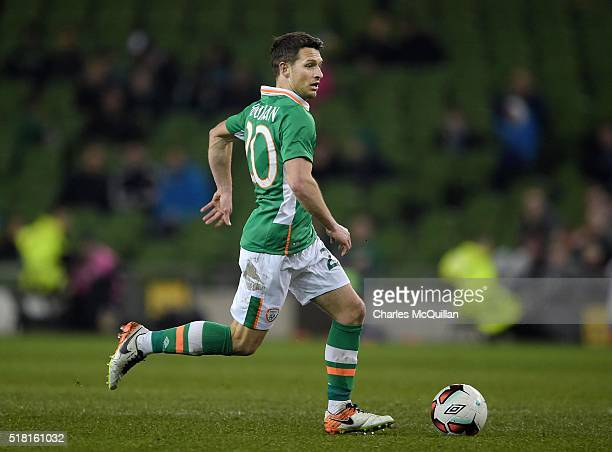 Wes Hoolahan of the Republic of Ireland during the international friendly match between the Republic of Ireland and Slovakia at Aviva Stadium on...