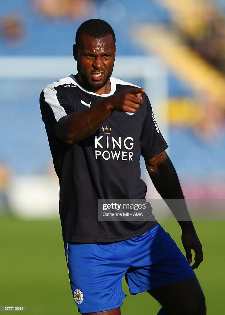 Wes Morgan of Leicester City before the Pre-Season Friendly match between Oxford United and Leicester City at Kassam Stadium on July 19, 2016 in Oxford, England.