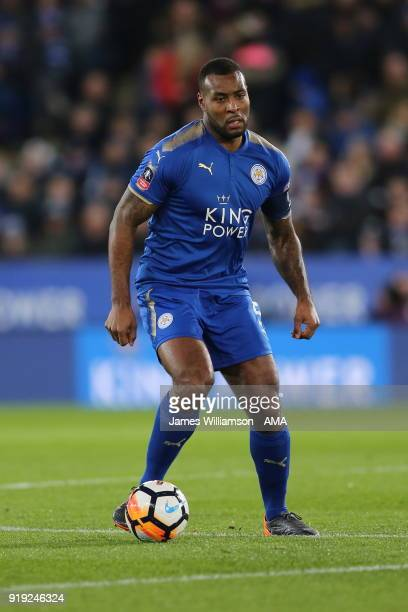 Wes Morgan of Leicester City during the Emirates FA Cup Fifth Round match between Leicester City and Sheffield United at The King Power Stadium on...