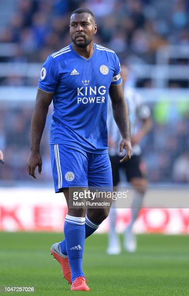 Wes Morgan of Leicester City in action during the Premier League match between Newcastle United and Leicester City at St James Park on September 29...