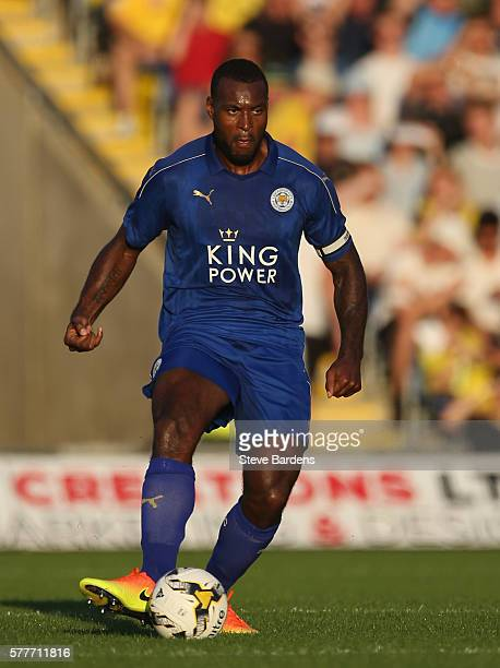 Wes Morgan of Leicester City in action during the preseason friendly between Oxford United and Leicester City at Kassam Stadium on July 19 2016 in...