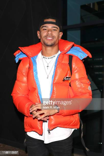 Wes Nelson leaving LH2 studios after Celebrity X Factor on November 16, 2019 in London, England.