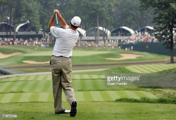 Wes Short Jr tees off the13th hole during the second round of the 2006 PGA Championship at Medinah Country Club on August 18 2006 in Medinah Illinois