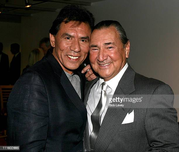 Wes Studi and August Schellenberg during The New World Houston Premiere to Benefit Bo's Place in Houston Texas United States