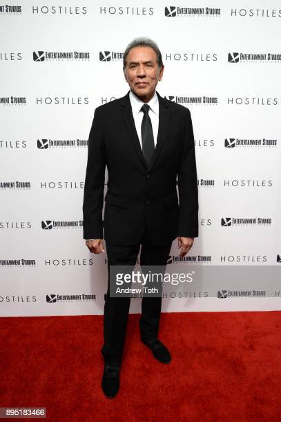 Wes Studi attends the 'Hostiles' New York premiere at Metrograph on December 18 2017 in New York City