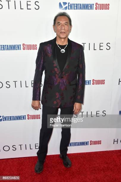 Wes Studi attends the premiere of Entertainment Studios Motion Pictures' 'Hostiles' at Samuel Goldwyn Theater on December 14 2017 in Beverly Hills...
