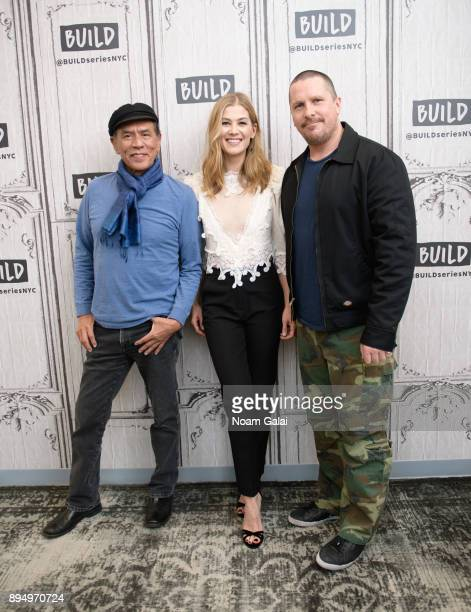 Wes Studi Rosamund Pike and Christian Bale visit Build Series to discuss 'Hostiles' at Build Studio on December 18 2017 in New York City