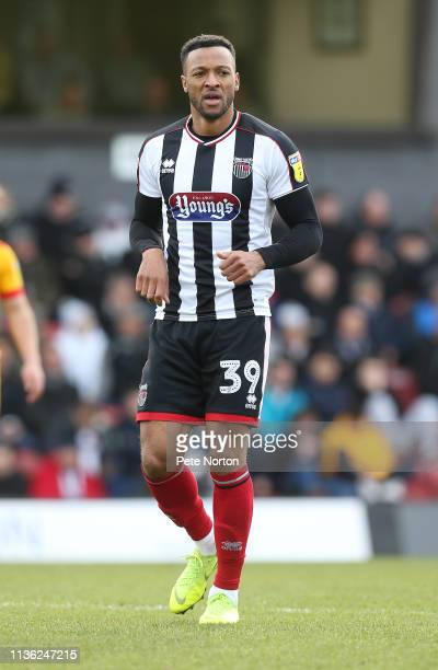 Wes Thomas of Grimsby Town in action during the Sky Bet League Two match between Grimsby Town and Northampton Town at Blundell Park on March 16, 2019...
