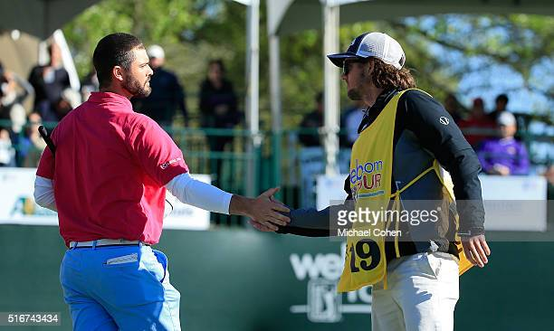 Wesley Bryan is contratulated by his brother and caddie George Bryan IV after winning the Chitimacha Louisiana Open presented by NACHER held at Le...