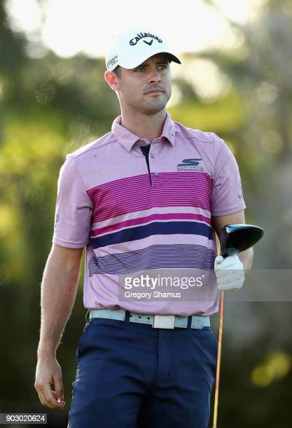 Wesley Bryan of the United States looks on during practice rounds prior to the Sony Open In Hawaii at Waialae Country Club on January 9 2018 in...
