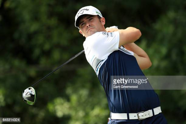 Wesley Bryan of the United States plays his shot from the third tee during the third round of The Honda Classic at PGA National Resort and Spa on...