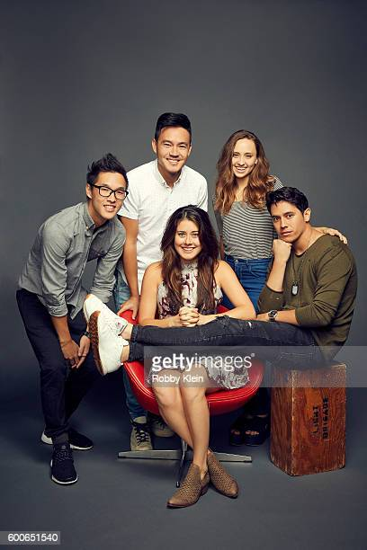 Wesley Chan Manon Mathews Eric Ochoa Hillary Matthews and Philip Wang of YouTube Red Original 'Single By 30' are photographed at the YouTube 2016...