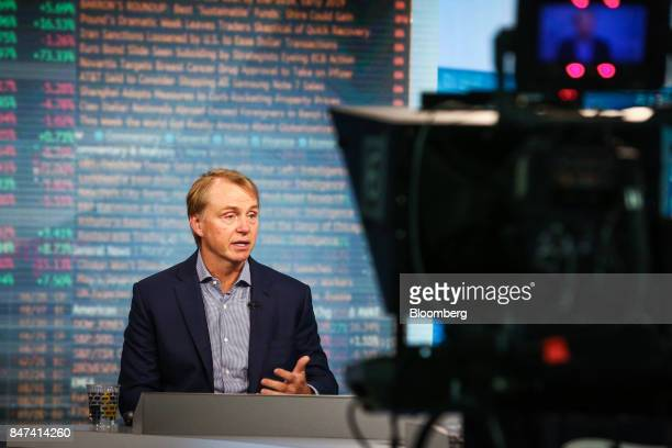 Wesley Edens Cofounder and cochairman of Fortress Investment Group LLC speaks during a Bloomberg Television interview in New York US on Friday Sept...