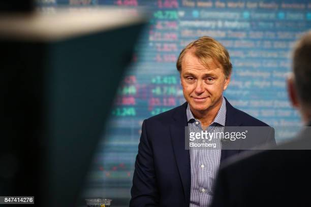 Wesley Edens Cofounder and cochairman of Fortress Investment Group LLC listens during a Bloomberg Television interview in New York US on Friday Sept...