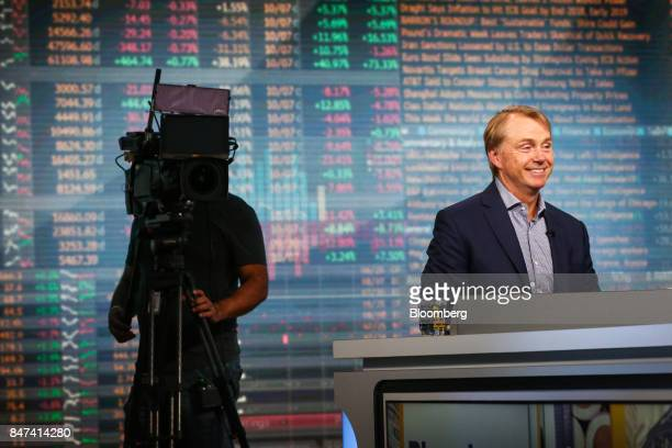 Wesley Edens Cofounder and cochairman of Fortress Investment Group LLC smiles during a Bloomberg Television interview in New York US on Friday Sept...