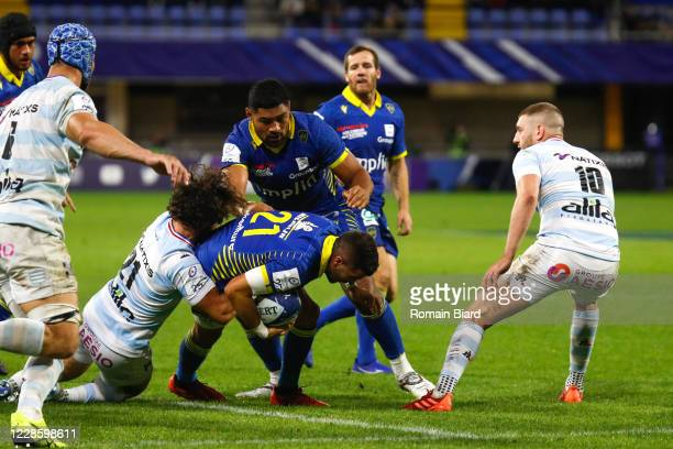 Wesley FOFANA of Clermont during the Quarter-Final Champions Cup match between Clermont and Racing92 at Stade Marcel Michelin on September 19, 2020...