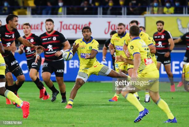 Wesley FOFANA of Clermont during the Top 14 match between ASM Clermont and Stade Toulousain at Parc des Sport Marcel-Michelin on September 6, 2020 in...