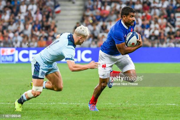Wesley Fofana of France during the test match between France and Scotland on August 17 2019 in Nice France