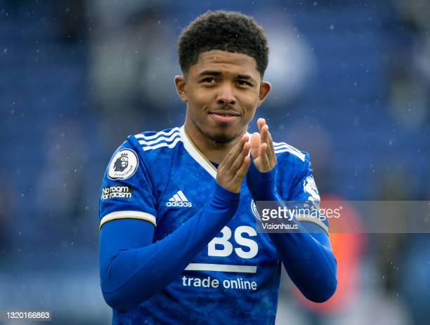 Wesley Fofana of Leicester City applauds the crowd after the Premier League match between Leicester City and Tottenham Hotspur at The King Power...