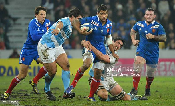 FRANCE Wesley Fofana Villeneuved'Ascq France's during the rugby union test match France vs Argentina at Lille Grand Stade on November 17 2012 in...