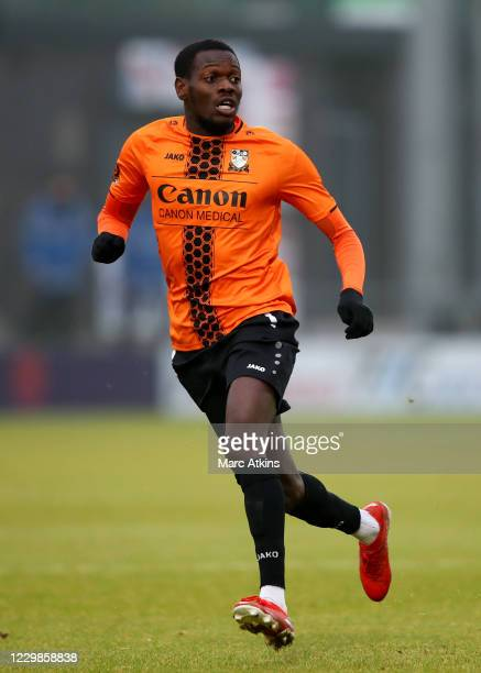 Wesley Fonguck of Barnet during the Emirates FA Cup Second Round match between Barnet FC and Milton Keynes Dons at The Hive London on November 29,...