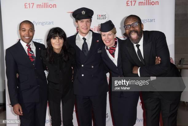 Wesley Goode Claudia Winkleman James Van der Hoorn Jane Lloyd Mostyn and Lenny Henry attend a British Airways event celebrating the airline raising...