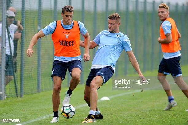 Wesley Hoedt and Sergej Milinkovic Savic of SS Lazio during the SS Lazio Training Camp on August 2 2017 in Walchsee Austria