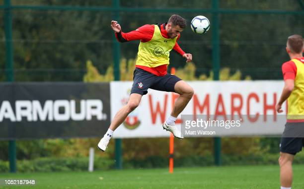 Wesley Hoedt during a Southampton FC training session at the Staplewood Campus on October 15 2018 in Southampton England