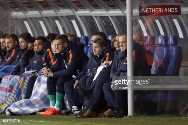 Wesley Hoedt of Holland goalkeeper Jeroen Zoet of Holland Marko van Ginkel of Holland Jurgen Locadia of Holland Kenny Tete of Holland Donny van de...