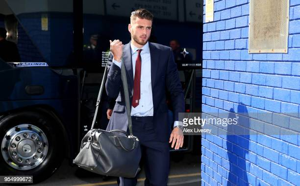 Wesley Hoedt of Southampton arrives at the stadium prior to the Premier League match between Everton and Southampton at Goodison Park on May 5 2018...