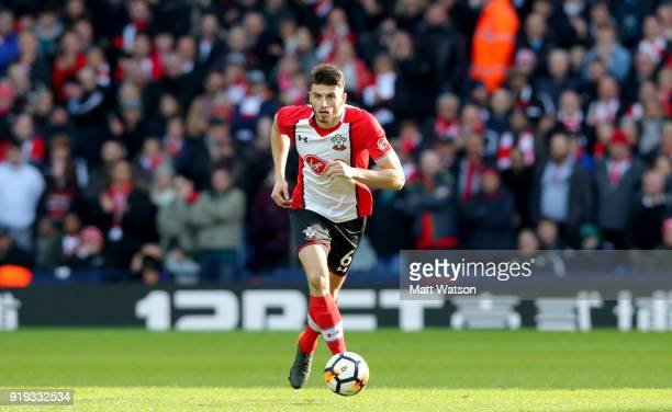 Wesley Hoedt of Southampton during the Emirates FA Cup fifth round match between West Bromwich Albion and Southampton at The Hawthorns on February 17...