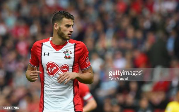 Wesley Hoedt of Southampton during the Premier League match between Southampton and Watford at St Mary's Stadium on September 9 2017 in Southampton...