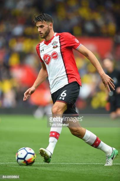 Wesley Hoedt of Southampton in action during to the Premier League match between Southampton and Watford at St Mary's Stadium on September 9 2017 in...