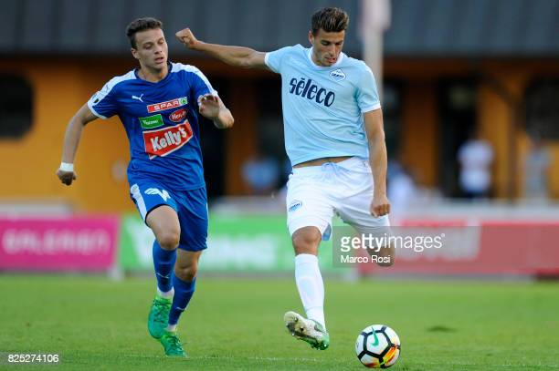 Wesley Hoedt of SS Lazio during the preseason friendly match between SS Lazio and FC Kufstein on August 1 2017 in Kufstein Austria