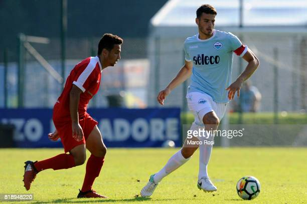 Wesley Hoedt of SS Lazio during the SS Lazio V Tristina PreSeason Friendly match on July 19 2017 in Pieve di Cadore Italy