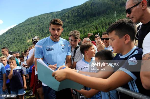 Wesley Hoedt of SS Lazio during the to visit Lazio Style Village on July 15 2017 in Pieve di Cadore Italy