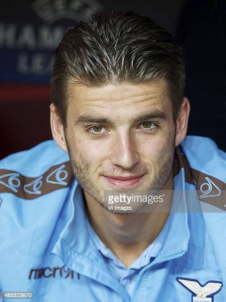 Wesley Hoedt of SS Lazio during the UEFA Champions League playoffs match between Bayer Leverkusen and Lazio Roma on August 26 2015 at the BayArena in...