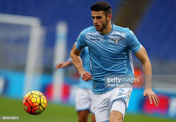 Wesley Hoedt of SS Lazio in action during the Serie A match between SS Lazio and Carpi FC at Stadio Olimpico on January 6 2016 in Rome Italy