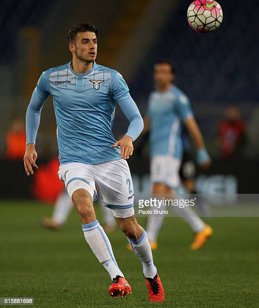 Wesley Hoedt of SS Lazio in action during the Serie A match between SS Lazio and Atalanta BC at Stadio Olimpico on March 13 2016 in Rome Italy