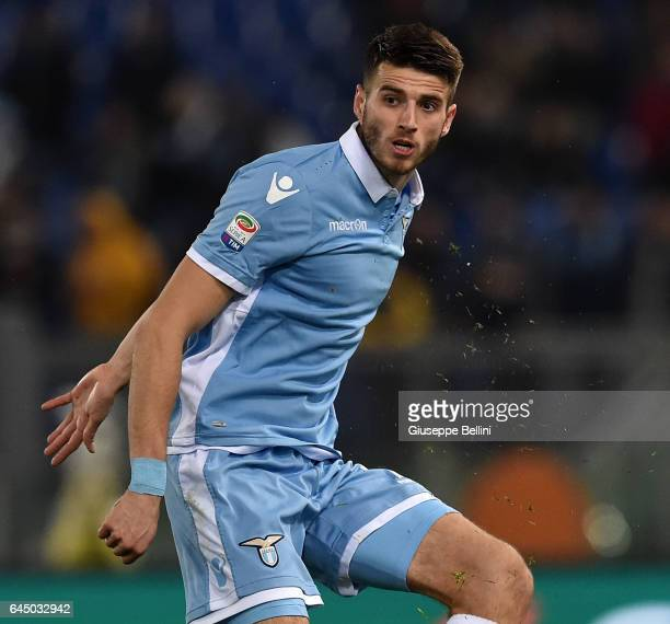 Wesley Hoedt of SS Lazio in action during the Serie A match between SS Lazio and AC Milan at Stadio Olimpico on February 13 2017 in Rome Italy