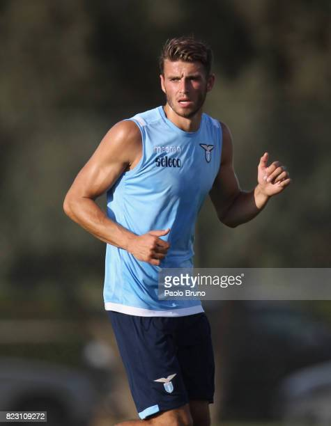 Wesley Hoedt of SS Lazio in action during the SS Lazio preseason training session on July 26 2017 in Rome Italy