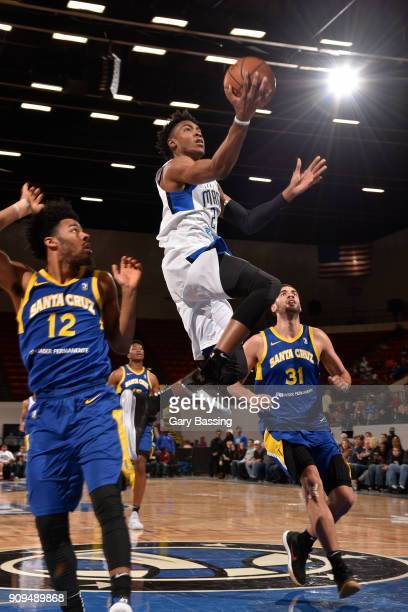 Wesley Iwundu of the Lakeland Magic shoots a lay up against the Santa Cruz Warriors on January 5 2018 at RP Funding Center in Lakeland Florida NOTE...