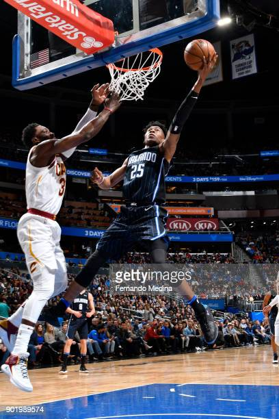 Wesley Iwundu of the Orlando Magic dunks against the Cleveland Cavaliers on January 6 2018 at Amway Center in Orlando Florida NOTE TO USER User...