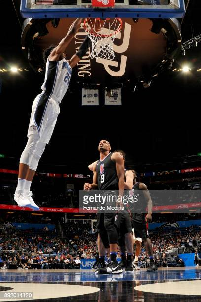 Wesley Iwundu of the Orlando Magic dunks the ball against the LA Clippers on December 13 2017 at Amway Center in Orlando Florida NOTE TO USER User...